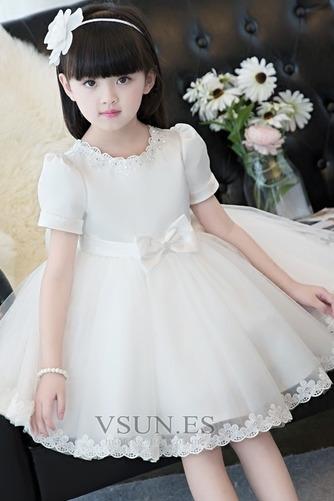 Vestido niña ceremonia Lazos Corte-A Natural Hasta la Rodilla Verano Arco Acentuado - Página 3