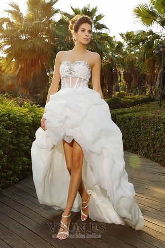 Vestido de novia Formal Falta Otoño Organza Apliques Asimètrico - Página 1