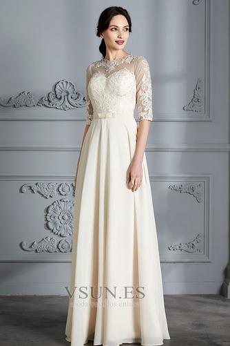 Vestido de novia Corte-A Apliques Capa de encaje Natural Falta Fuera de casa - Página 4