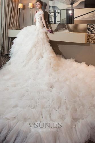 Vestido de novia Cola Real Falta Natural Cordón Camiseta Corte-A - Página 3