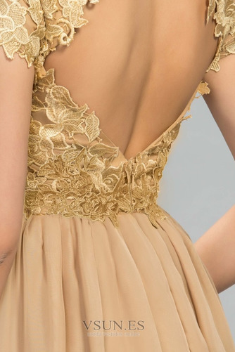 Vestido de noche Elegante Capa de encaje Pera Encaje Hasta el suelo - Página 4