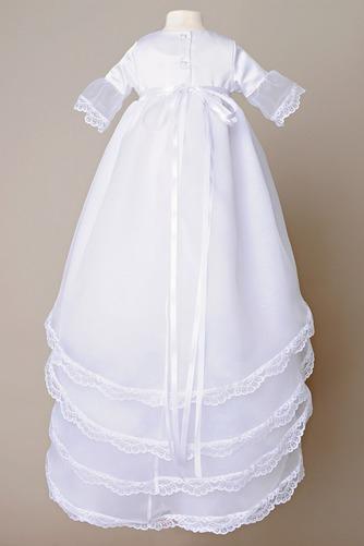 Vestido de Bautizo largo Natural Arco Acentuado Otoño Organza Alto cubierto - Página 4
