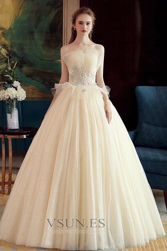 Vestido de novia Sin mangas primavera Corte-A Hasta el suelo tul Apliques - Página 1