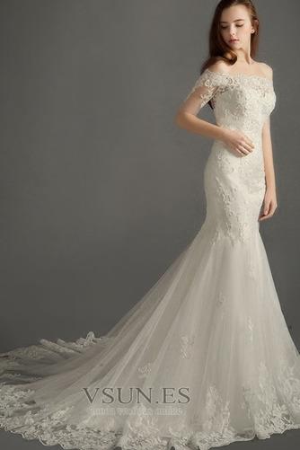 Vestido de novia Elegante Cremallera Escote con abertura Natural Encaje - Página 1