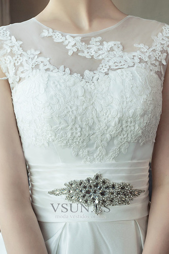 Vestido de novia Apliques Iglesia Triángulo Invertido Capa de encaje - Página 5
