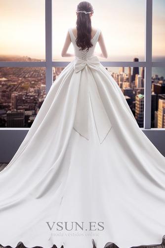 Vestido de novia Cola Real Drapeado Satén Iglesia Cordón Triángulo Invertido - Página 2