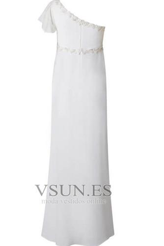 Vestido de novia Embarazadas Asimétrico Estilo Hasta el suelo Fuera de casa - Página 4
