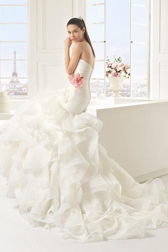 Vestido de novia primavera Cola Capilla Natural Cremallera Escalonado - Página 2