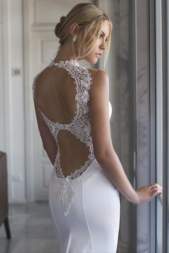 Vestido de novia Playa Cola Capilla Corte Sirena sexy Satén Elástico - Página 3