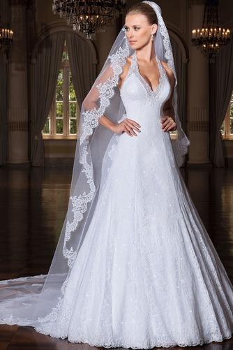 Vestido de novia Encaje largo tul Iglesia Espalda Descubierta Clasicos - Página 1