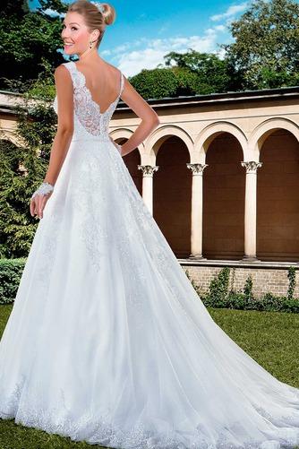Vestido de novia Con velo Corte-A Apliques Otoño Natural Encaje - Página 2