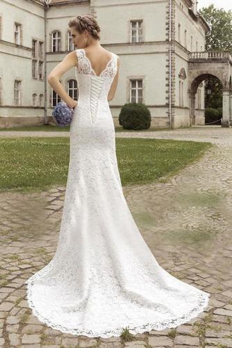 Vestido de novia Escote en V largo Apliques Fuera de casa Natural Moderno - Página 2