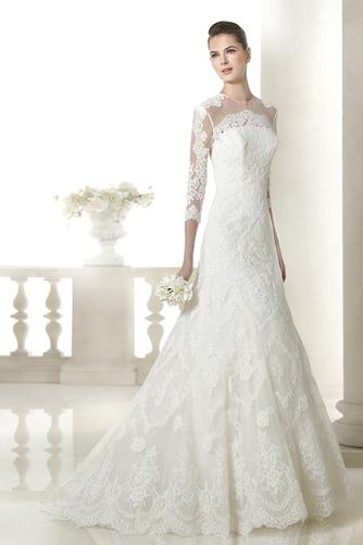Vestido de novia Encaje Manga de longitud 3/4 Corte-A Sala Con velo - Página 1