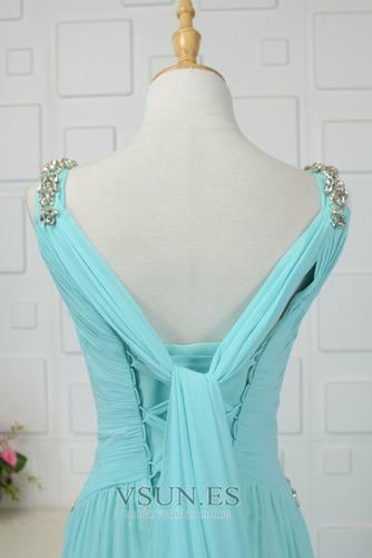 Vestido de noche Cordón Corte-A Plisado Formal Escote en V Blusa plisada - Página 4