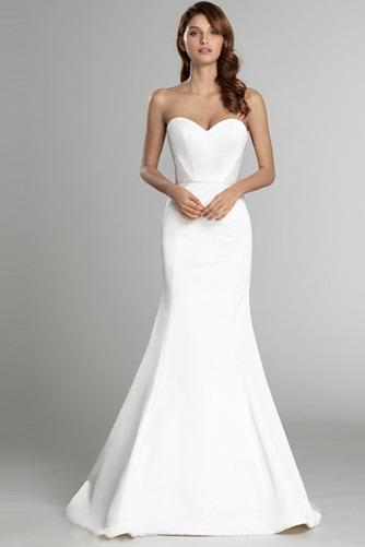 Vestido de novia Sin mangas largo Espalda Descubierta Natural Satén - Página 3