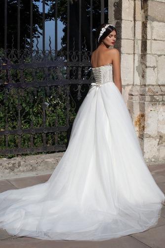 Vestido de novia Cristal Otoño largo Corte-A Vasco Escote Corazón - Página 2