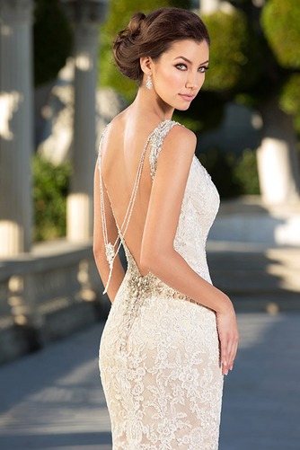 Vestido de novia Moderno Espalda Descubierta Corte Sirena tul primavera - Página 4
