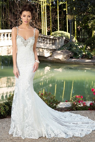 Vestido de novia Playa Apliques Natural tul Colores Cola Catedral - Página 1