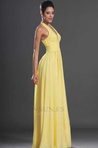 Vestido de noche primavera Espalda medio descubierto sexy Amarillo claro - Página 6