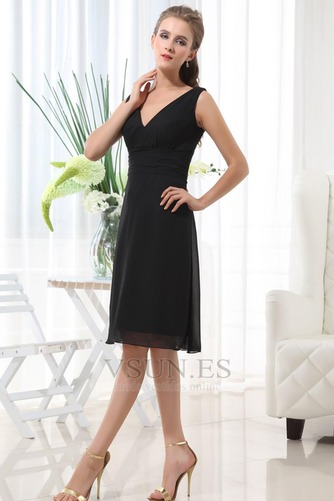 Vestido de dama de honor 2015 Fajas Escote en V Cremallera Otoño Gasa - Página 2