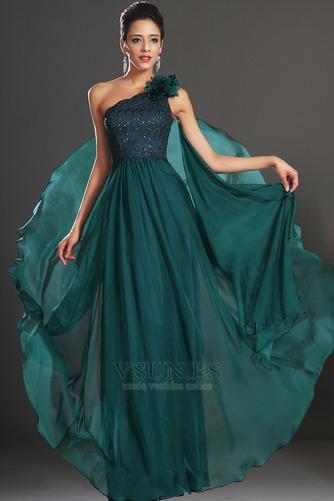 Vestido de noche Elegante Encaje Un sólo hombro Rosetón Acentuado Espalda medio descubierto - Página 2
