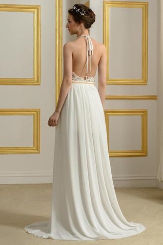 Vestido de novia sexy Fuera de casa Natural Escote con cuello Alto Espalda Descubierta - Página 2