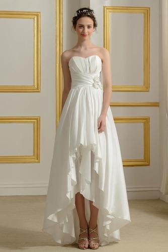Vestido de novia Sin mangas Asimètrico Sin tirantes Volantes Adorno - Página 1