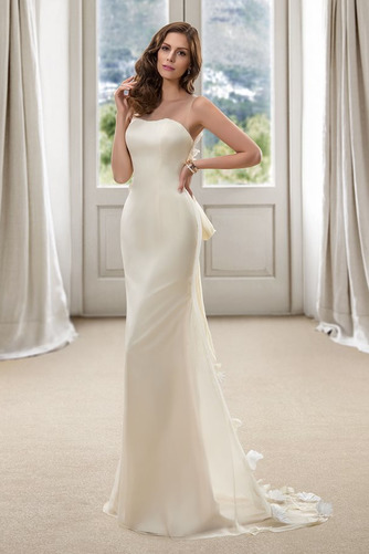 Vestido de novia Corte Sirena Natural Cola Barriba Flores Pura espalda - Página 3