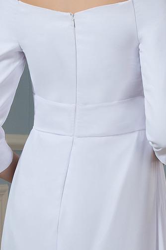 Vestido de novia Elegante Cola Barriba Playa Escote con Hombros caídos - Página 4