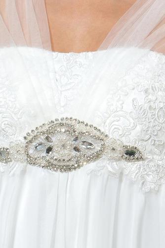 Vestido de novia Playa Manga corta Gasa Espalda Descubierta Abalorio - Página 4