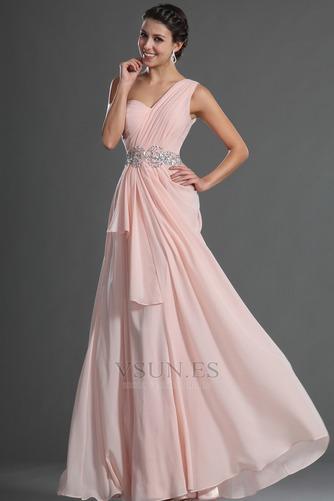 Vestido de fiesta Elegante Bebé rosa Verano Natural Gasa Sin mangas - Página 2