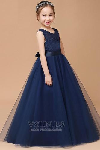 Vestido niña ceremonia Corte-A Falta Joya Formal Arco Acentuado tul - Página 2