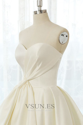 Vestido de novia Tallas grandes Cordón Natural Escote Corazón Otoño - Página 5