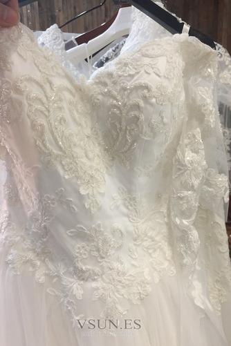 Vestido de novia Verano Cremallera Encaje Natural Sala Mangas Illusion - Página 4