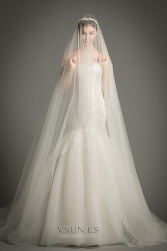 Vestido de novia Corte Sirena tul Iglesia Formal Falta Cordón - Página 2