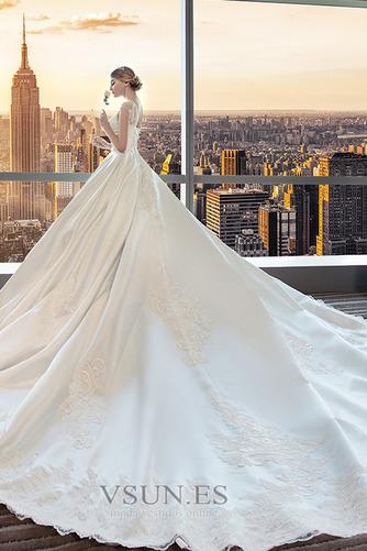 Vestido de novia Apliques Iglesia Triángulo Invertido Capa de encaje - Página 3