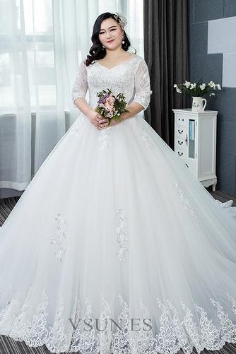 Vestido de novia Capa de encaje Apliques La mitad de manga Cordón Formal - Página 1