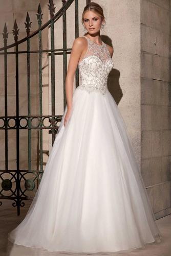 Vestido de novia Corte princesa Organza Moderno Fuera de casa Cremallera - Página 1