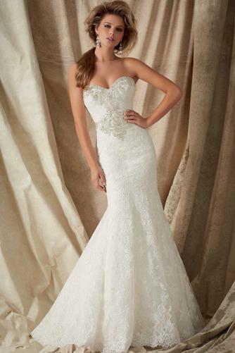 Vestido de novia Corte Sirena Colores Cremallera Sala Cola Capilla Escote Corazón - Página 1