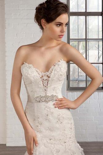 Vestido de novia tul Natural Apliques Espalda Descubierta Escote Corazón - Página 4