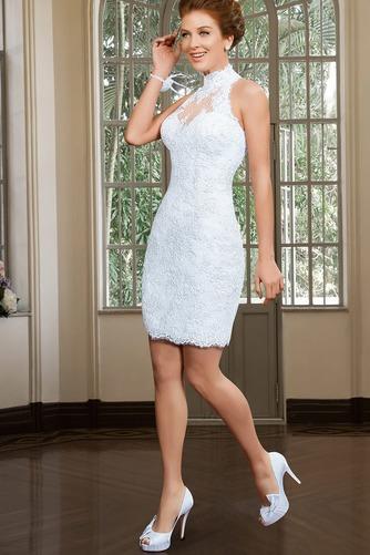 Vestido de novia Apliques Sin mangas primavera Alto cubierto Corte-A - Página 4