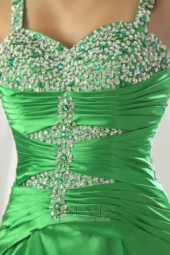Vestido de fiesta Elegante Cristal Tiras anchas Espalda Descubierta Triángulo Invertido - Página 5