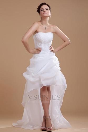 Vestido de novia informales Asimètrico Falta Blanco Espalda medio descubierto - Página 1