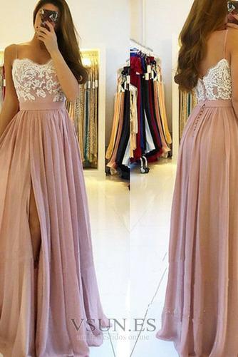 Vestido de fiesta Elegante Escote Corazón Hasta el suelo Corte-A Natural - Página 1