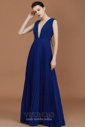 Vestido de dama de honor Falta Escote en V Otoño Baja escote en V Sencillo Corte-A - Página 5