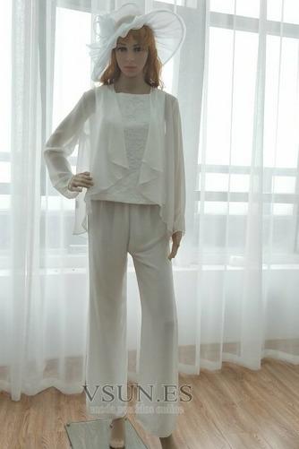 Vestido de madre traje de pantalones Hasta el Tobillo Elegante Manga larga Natural Triángulo Invertido - Página 3