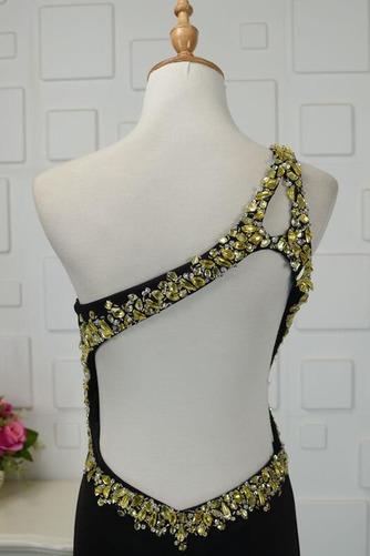 Vestido de fiesta Triángulo Invertido Corpiño Acentuado con Perla Un sólo hombro - Página 5