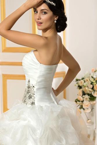 Vestido de novia Sin tirantes Triángulo Invertido Asimètrico Espalda Descubierta - Página 5