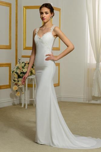 Vestido de novia Tallas pequeñas Playa Volantes Adorno Tiras anchas - Página 2