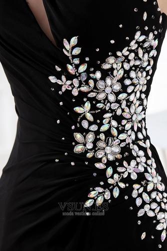 Vestido de fiesta Espalda medio descubierto Asimétrico Estilo Gasa Natural - Página 5
